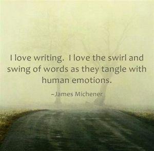 Why I write. <3